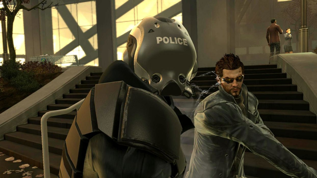 DEUS EX Human Revolution cyberpunk action role playing sci-fi futuristic (113) wallpaper