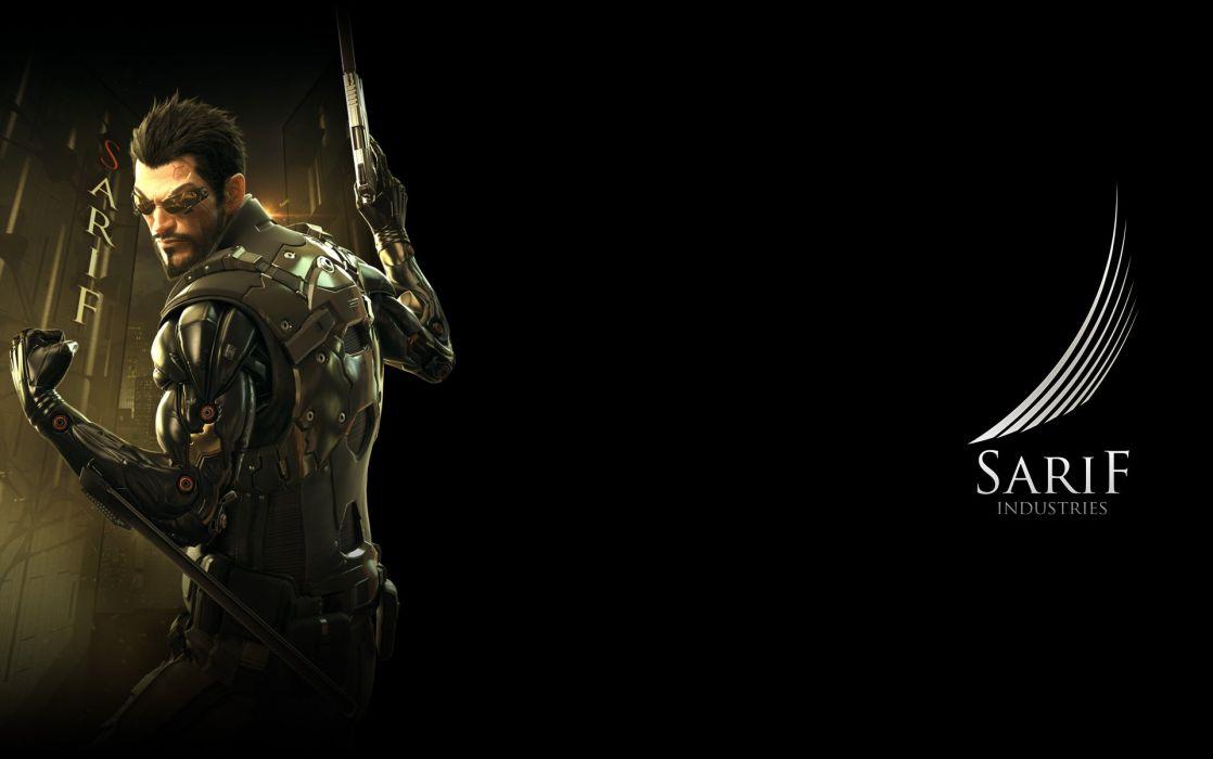 DEUS EX Human Revolution cyberpunk action role playing sci-fi futuristic (120) wallpaper