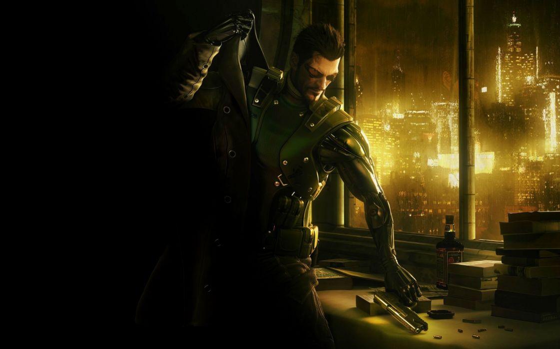 DEUS EX Human Revolution cyberpunk action role playing sci-fi futuristic (118) wallpaper