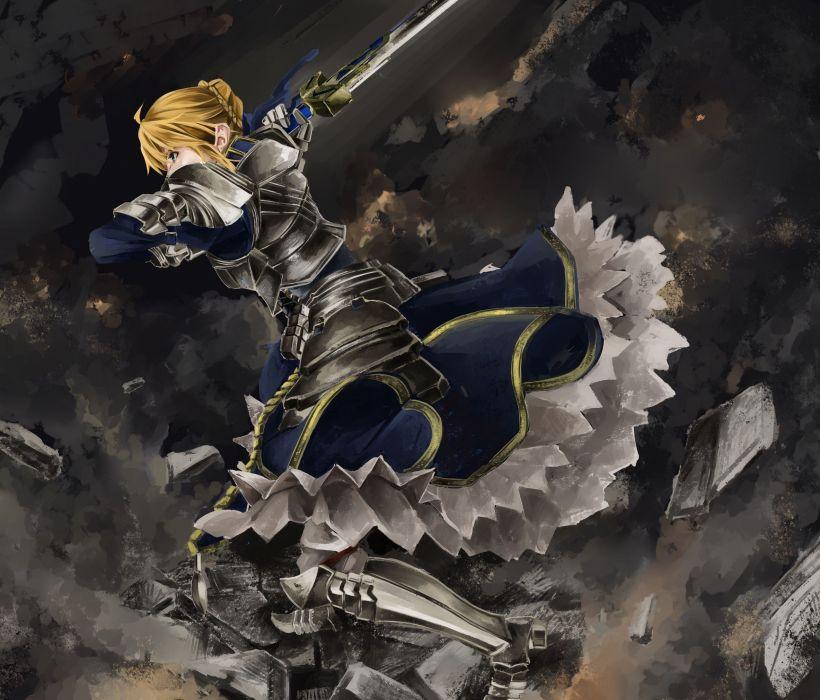Fate/Stay Night dress night armor Saber  Fate series wallpaper