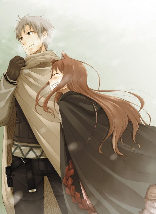 Spice and Wolf animal ears Craft Lawrence artwork anime Holo The Wise Wolf inumimi Horo Horo wallpaper