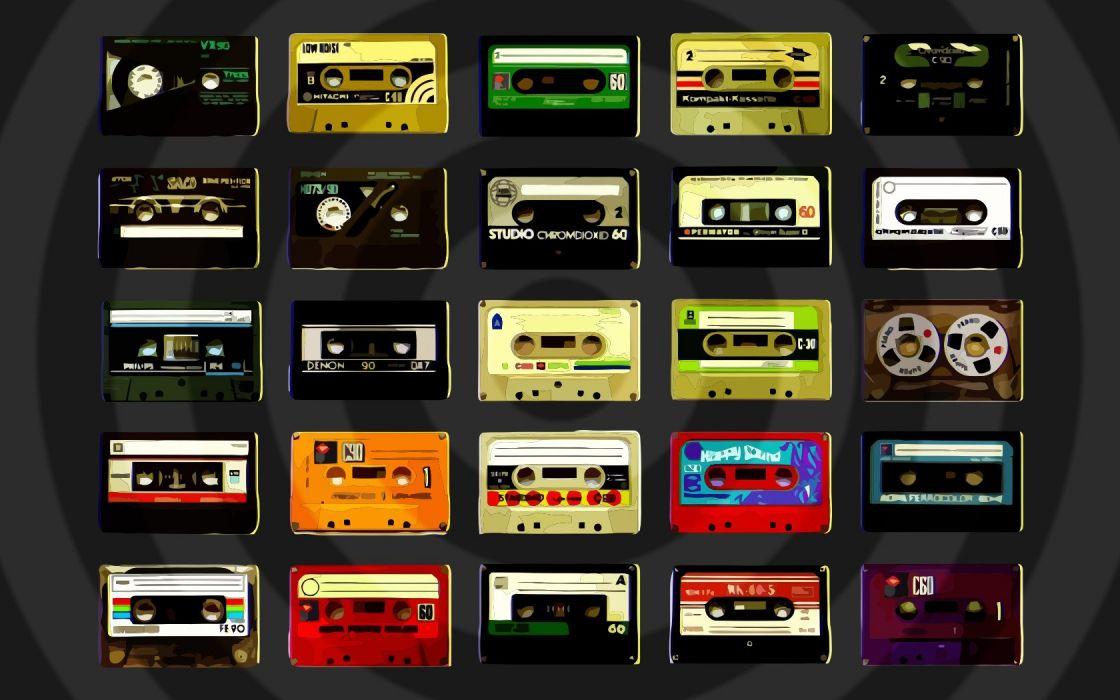 cassette audio tapes wallpaper