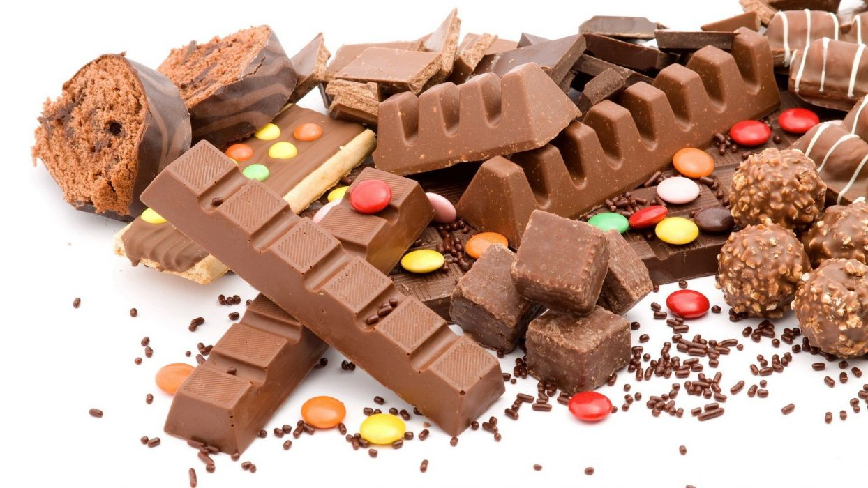chocolate food fat candies wallpaper