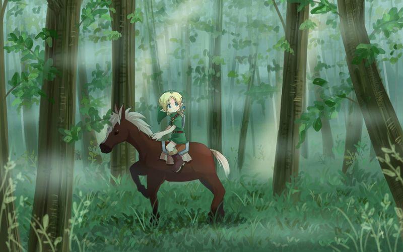 video games forests Link The Legend of Zelda Epona The Legend of Zelda: Majoras Mask wallpaper