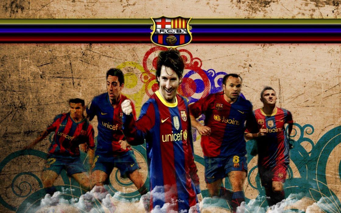 sports Lionel Messi FC Barcelona David Villa Xavi Hernandez Andres Iniesta Pedro Rodriguez Fc BarAIA wallpaper