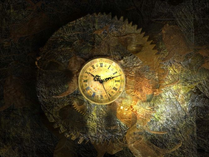 clocks artwork wallpaper