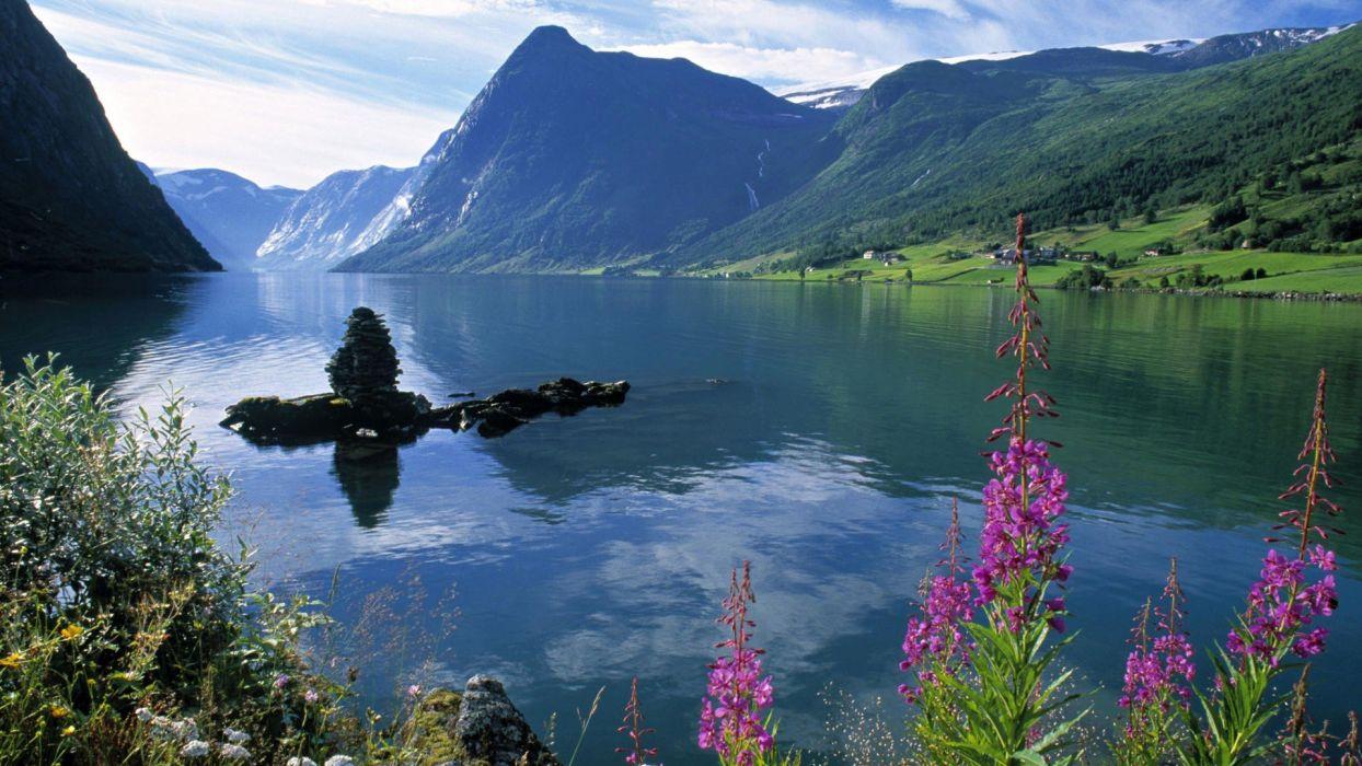 Norway Fjord Wallpaper 1920x1080 242689 Wallpaperup