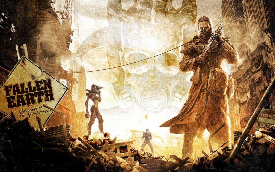 video games digital art fallen earth wallpaper