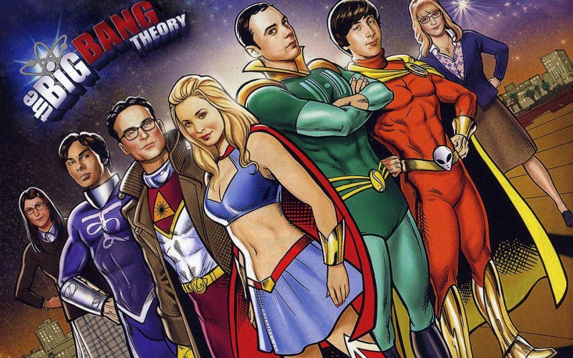 The Big Bang Theory TV Artwork Drawings Wallpaper