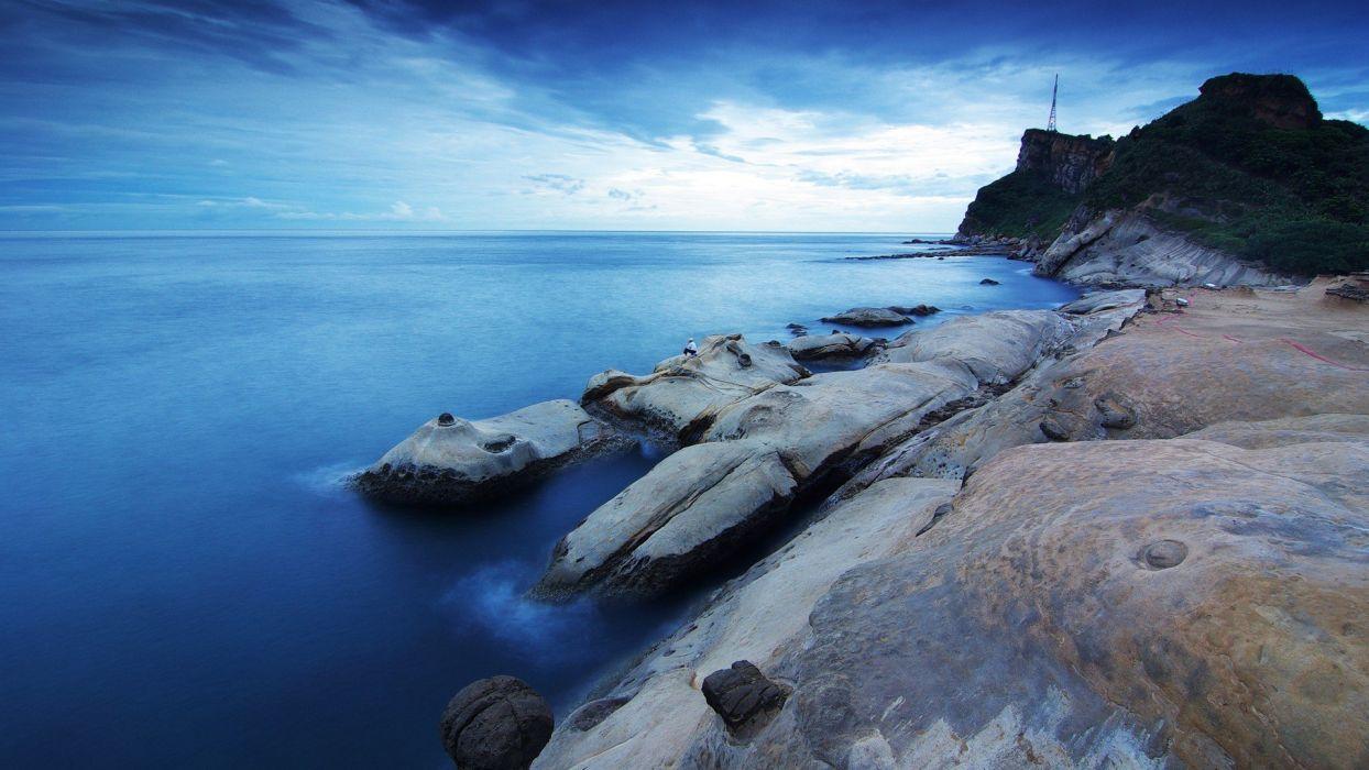 ocean landscapes nature coast skyscapes wallpaper