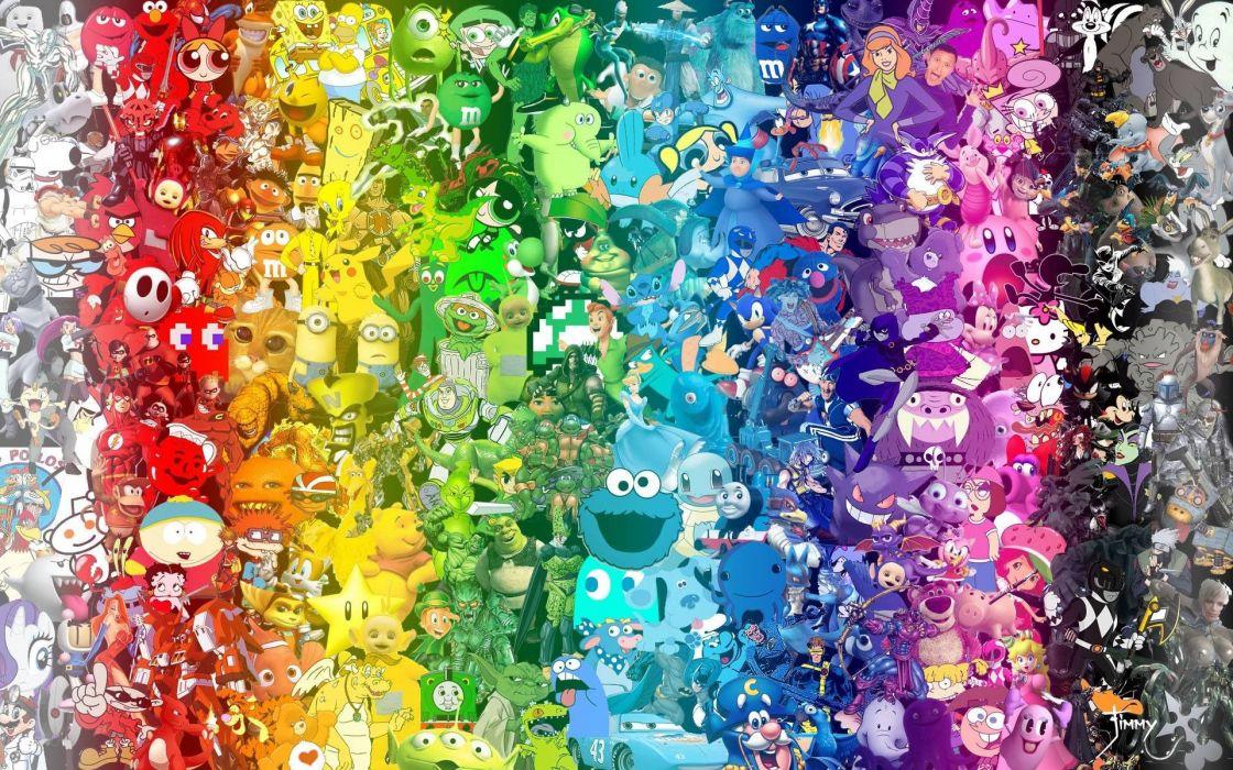cartoons Pokemon Batman Spider-Man Mario Family Guy Teenage Mutant Ninja Turtles The Simpsons Reddit Eric Cartman The Smurfs wallpaper