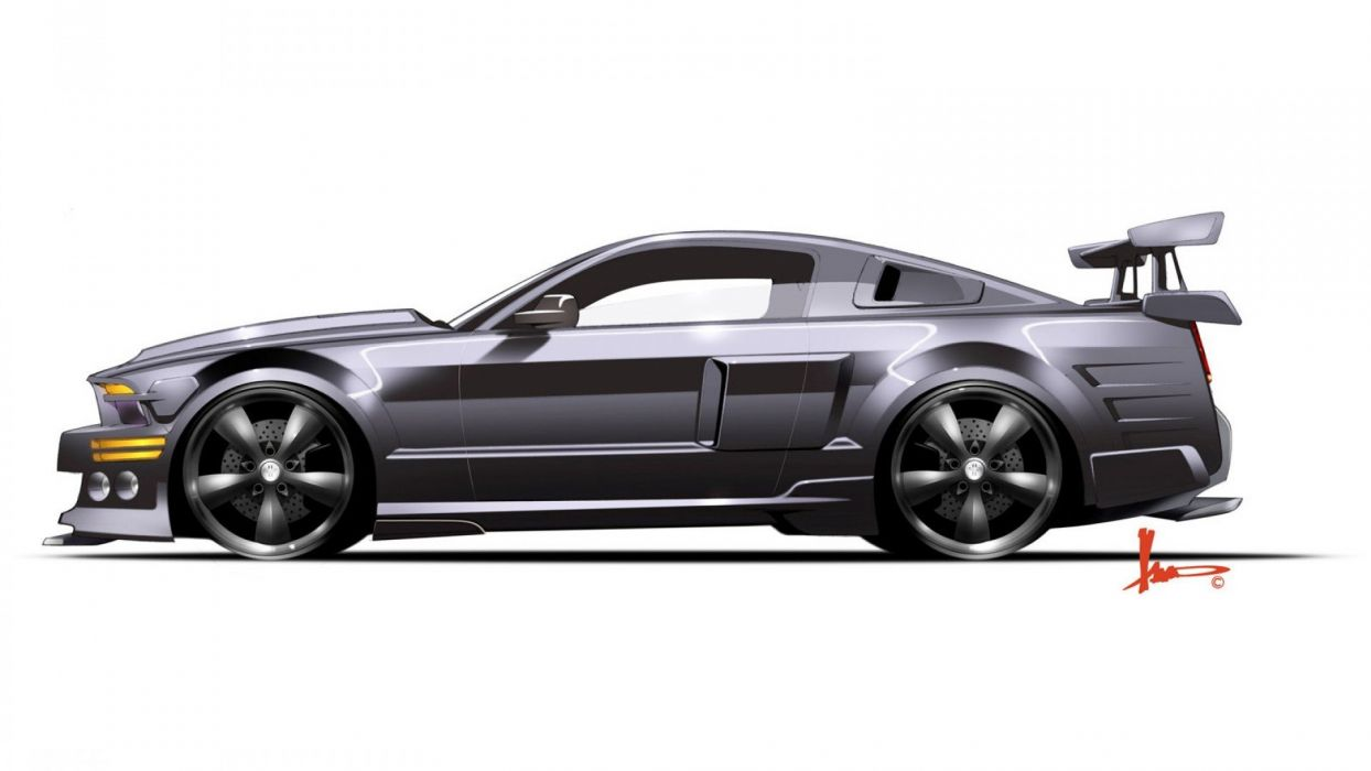 cars Ford Mustang black cars wallpaper