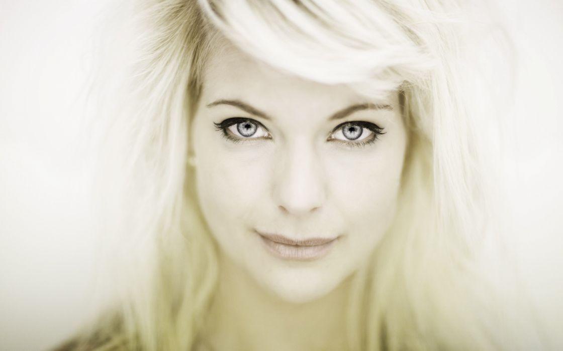 blondes women models faces wallpaper