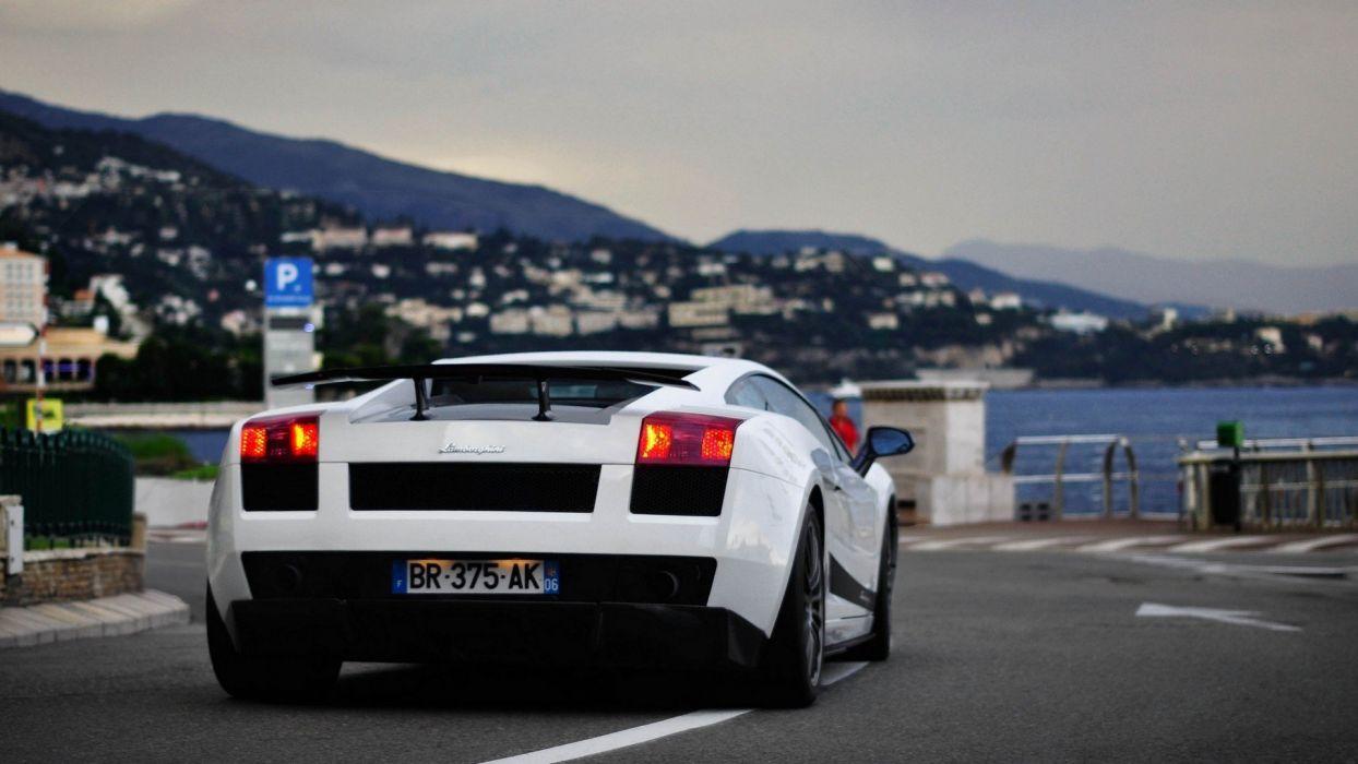 white cars supercars Lamborghini Gallardo wallpaper