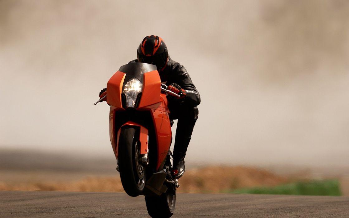 ktm KTM RC8 motorbikes wheelie wallpaper