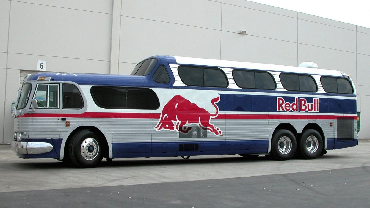 bus Red Bull Greyhound Bus wallpaper