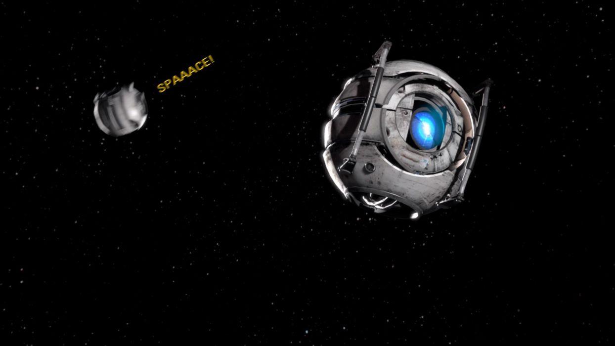 outer space Portal 2 Wheatley wallpaper