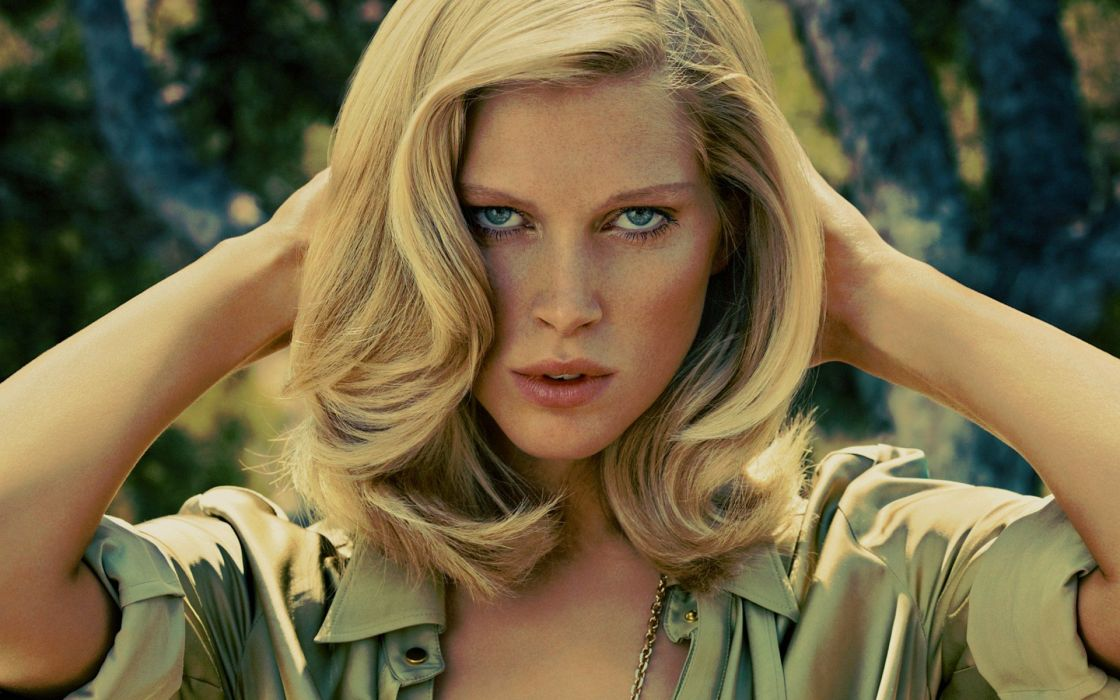 blondes women Iselin Steiro models Norwegian girls wallpaper