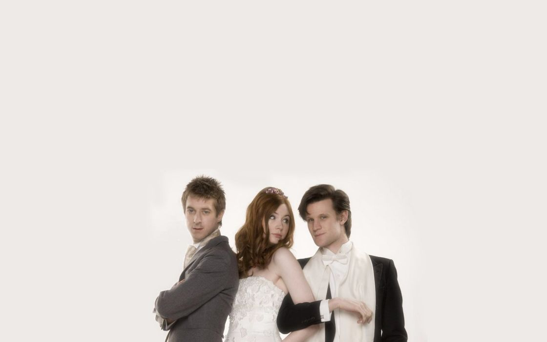 Matt Smith Karen Gillan Amy Pond Eleventh Doctor Doctor Who Rory Williams wallpaper