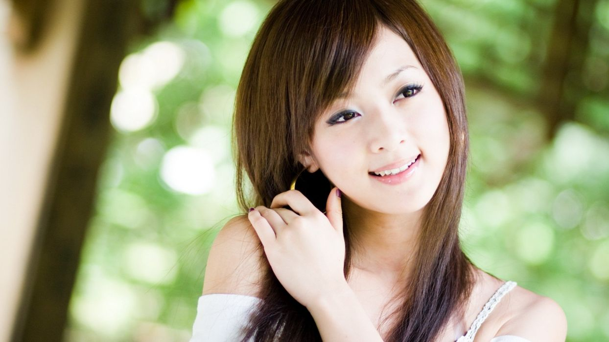 women Japanese Asians Mikako Zhang Kaijie models wallpaper