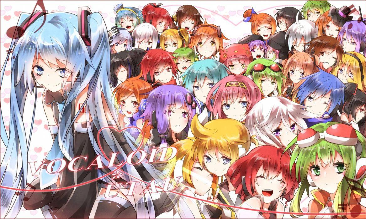 Vocaloid Hatsune Miku Megurine Luka Kaito (Vocaloid) Kagamine Rin Kagamine Len Kasane Teto Megpoid Gumi Zatsune Miku Utau Lily (Vocaloid) Vocaloid Fanmade wallpaper