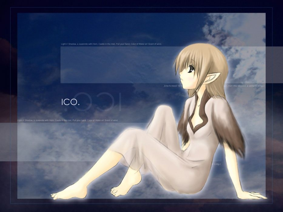 ico anime girls games Yorda wallpaper