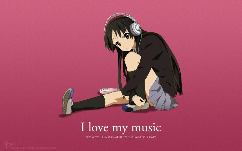 love music K-ON! Akiyama Mio anime anime girls wallpaper