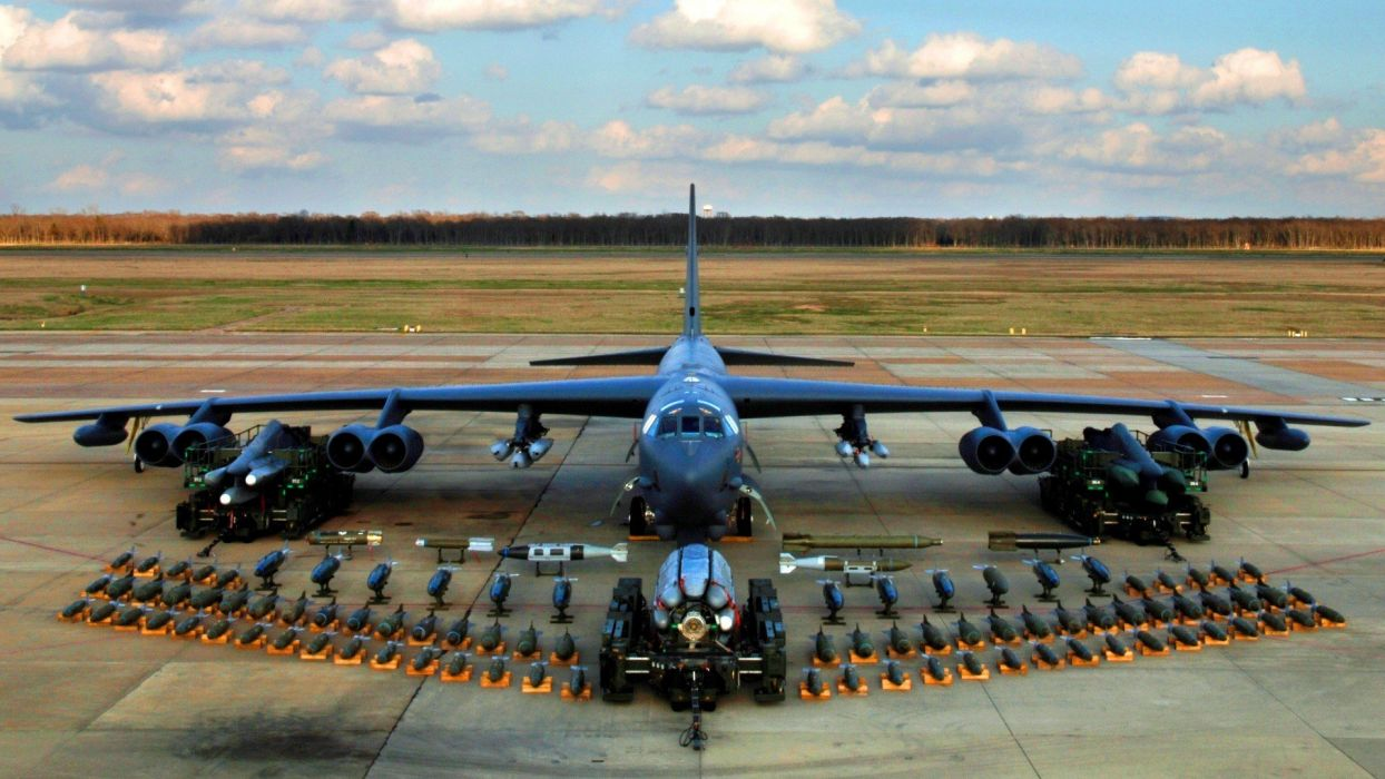 aircraft bombs military weapons air force Boeing B-52 Stratofortress missle wallpaper