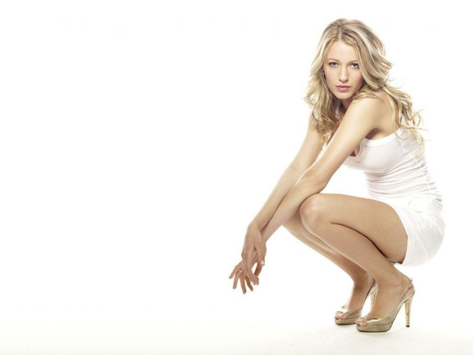 blondes women Blake Lively white dress wallpaper