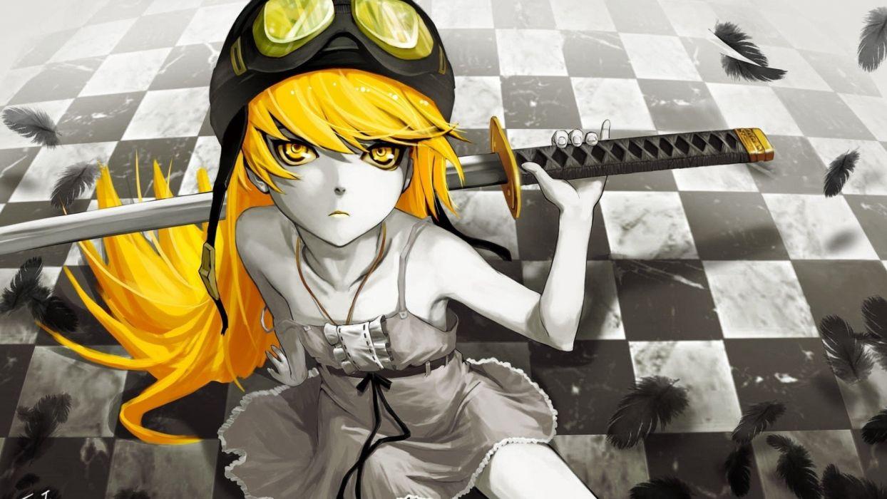 Bakemonogatari Oshino Shinobu anime Monogatari series wallpaper