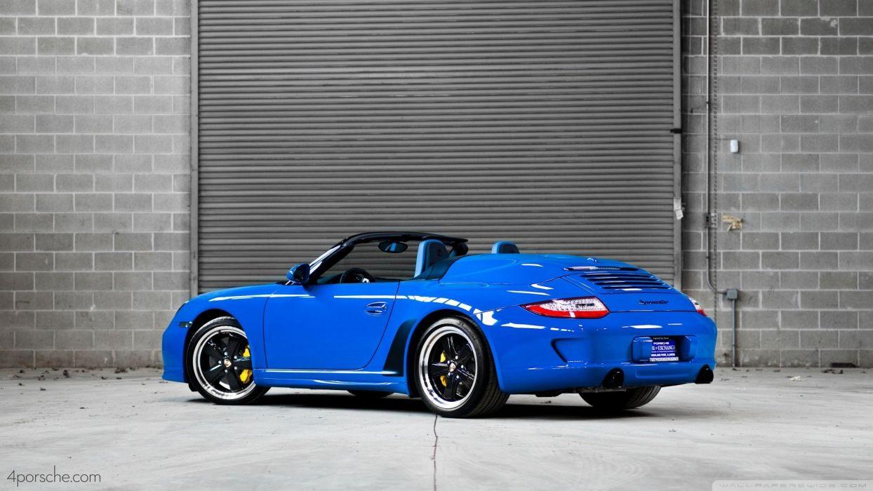 blue Porsche 911 wallpaper