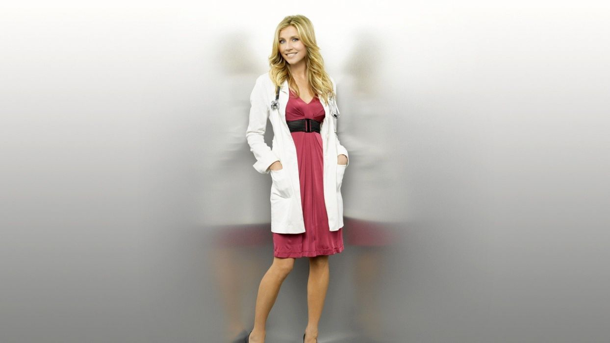 blondes women dress celebrity Sarah Chalke wallpaper