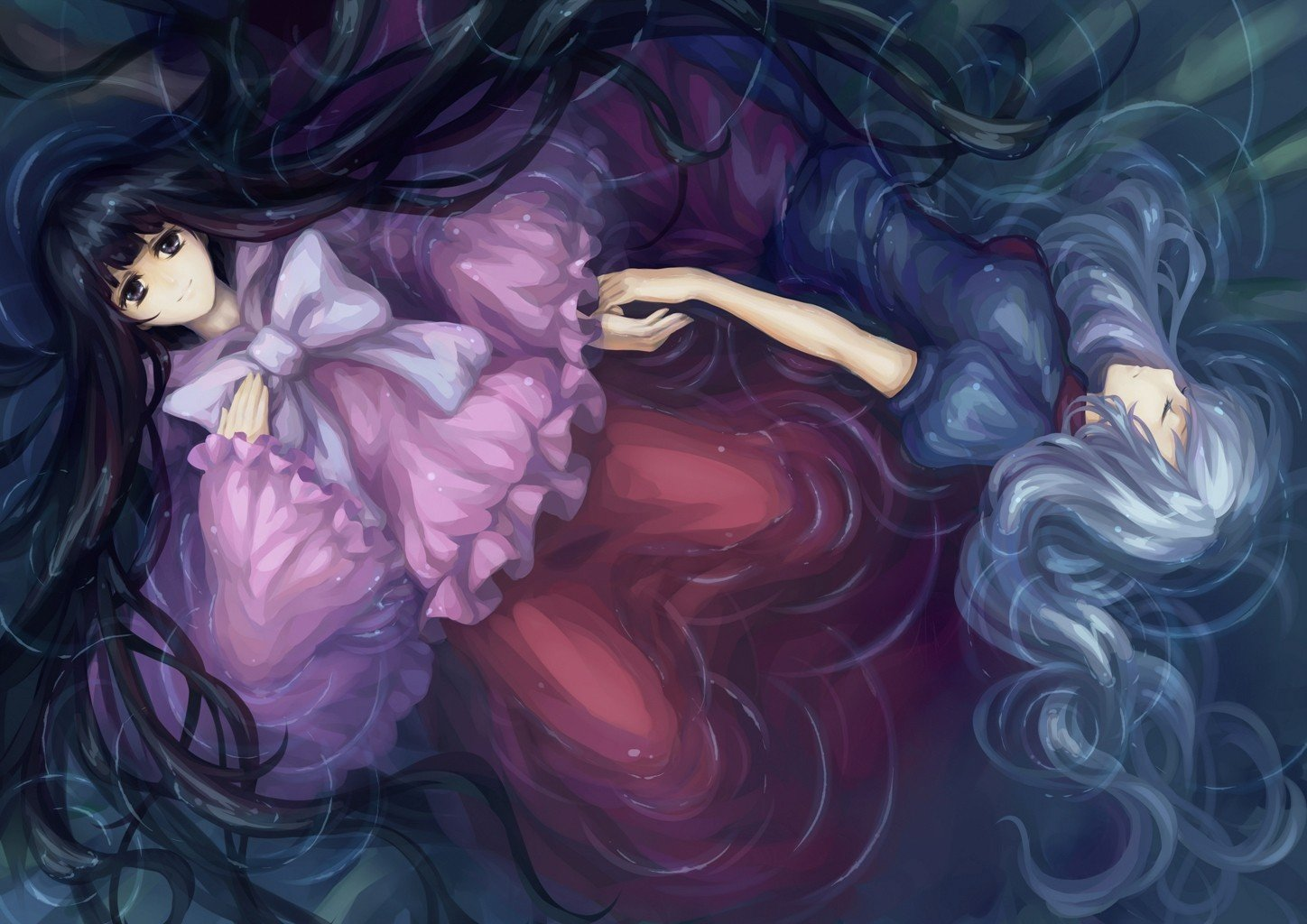Dress Floating in Water Water Video Games Touhou Dress