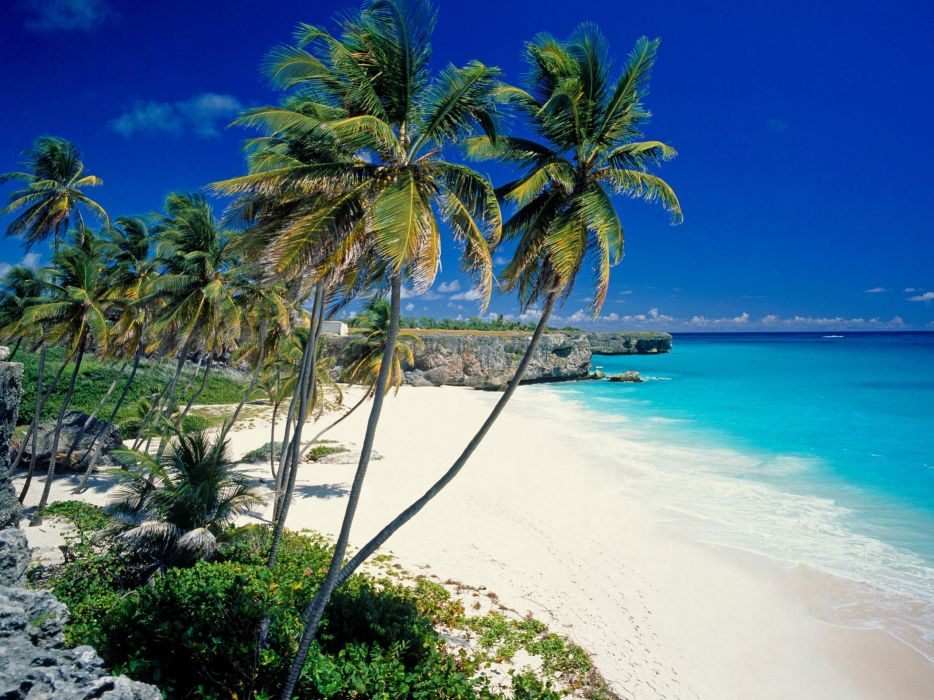 landscapes sand Barbados beaches wallpaper