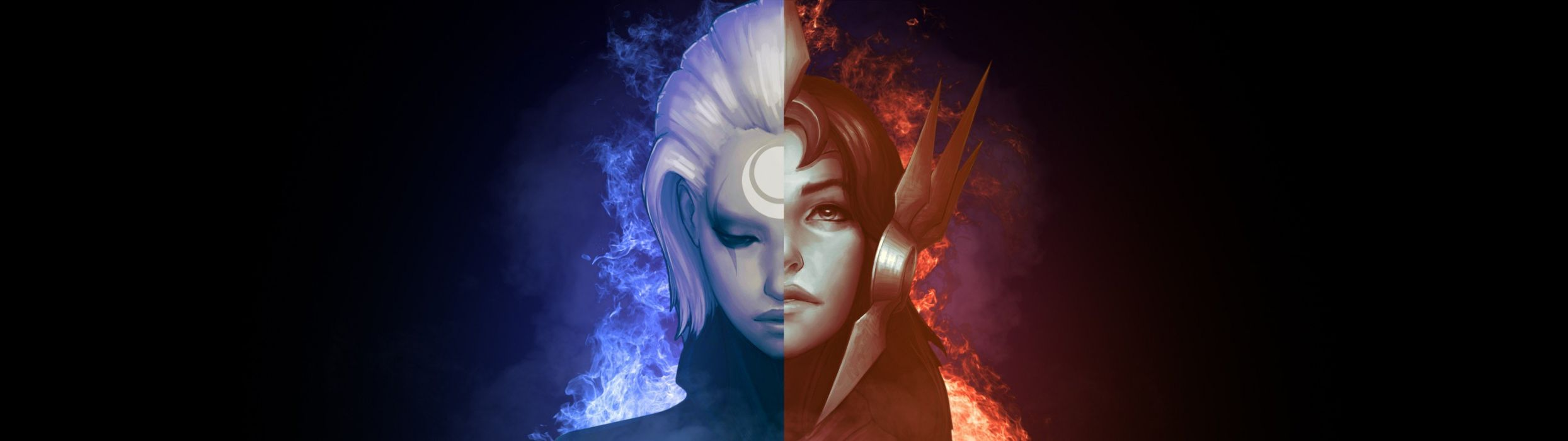 League Of Legends Leona Diana Wallpaper 3840x1080 243194