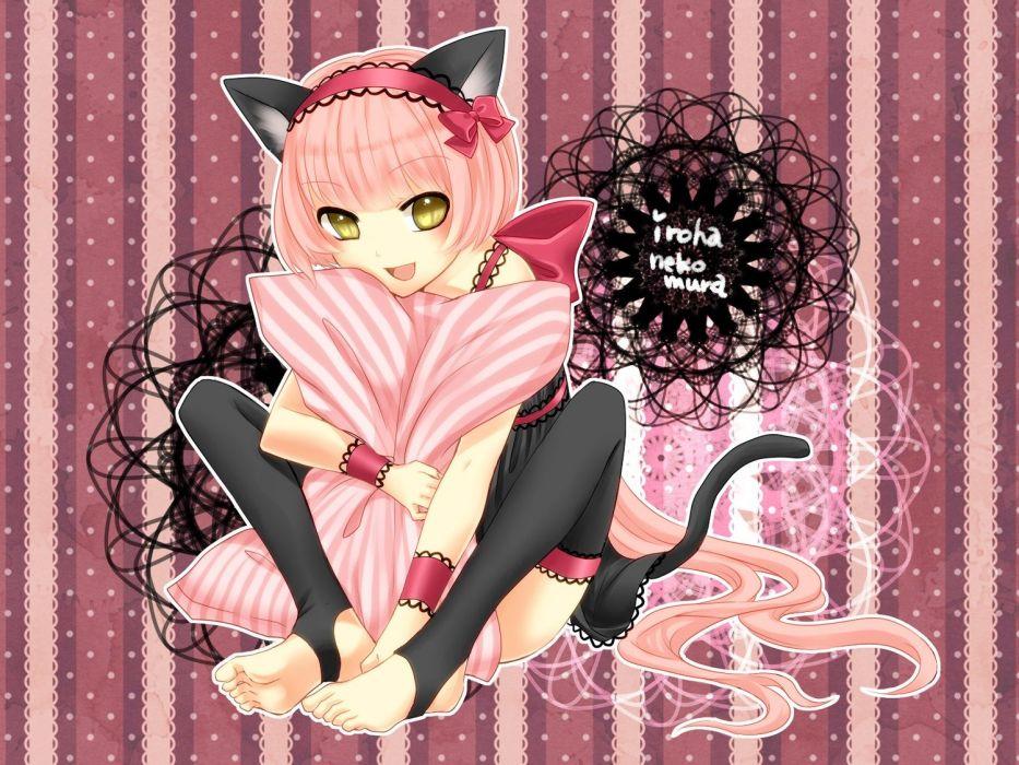 Vocaloid nekomimi animal ears cat ears anime girls Nekomura Iroha wallpaper