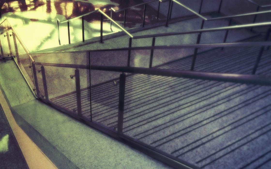 architecture stairways modern wallpaper