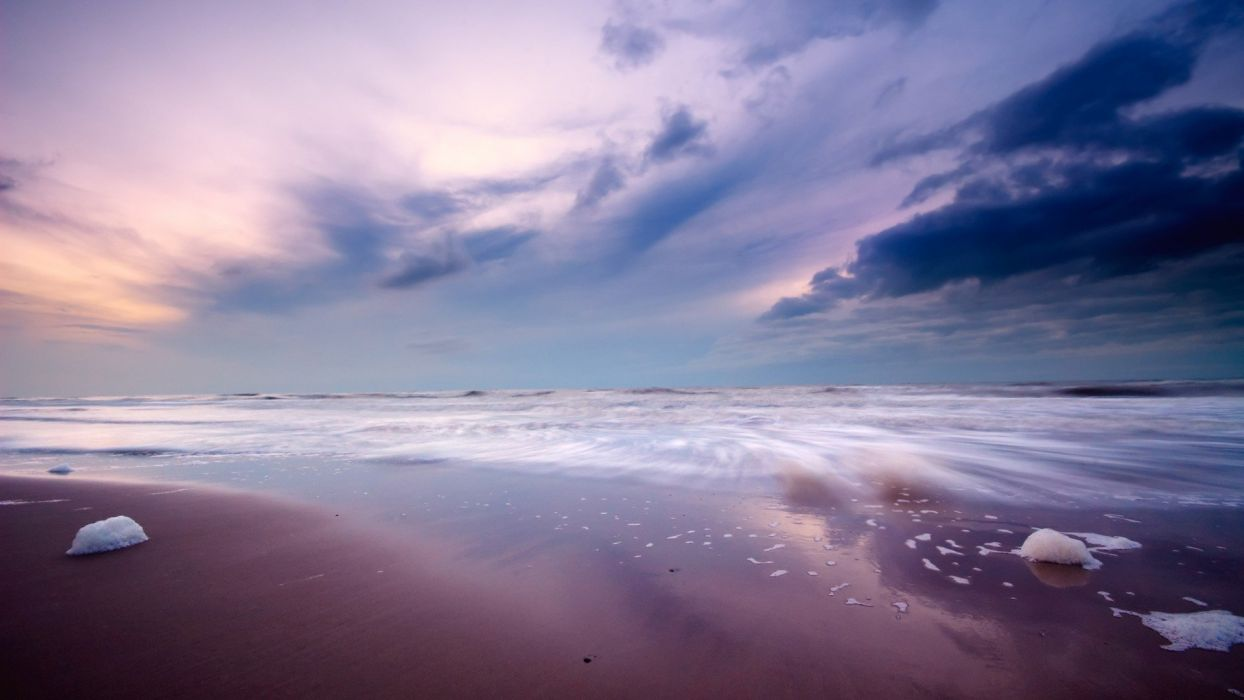 clouds landscapes nature skyscapes land beaches wallpaper