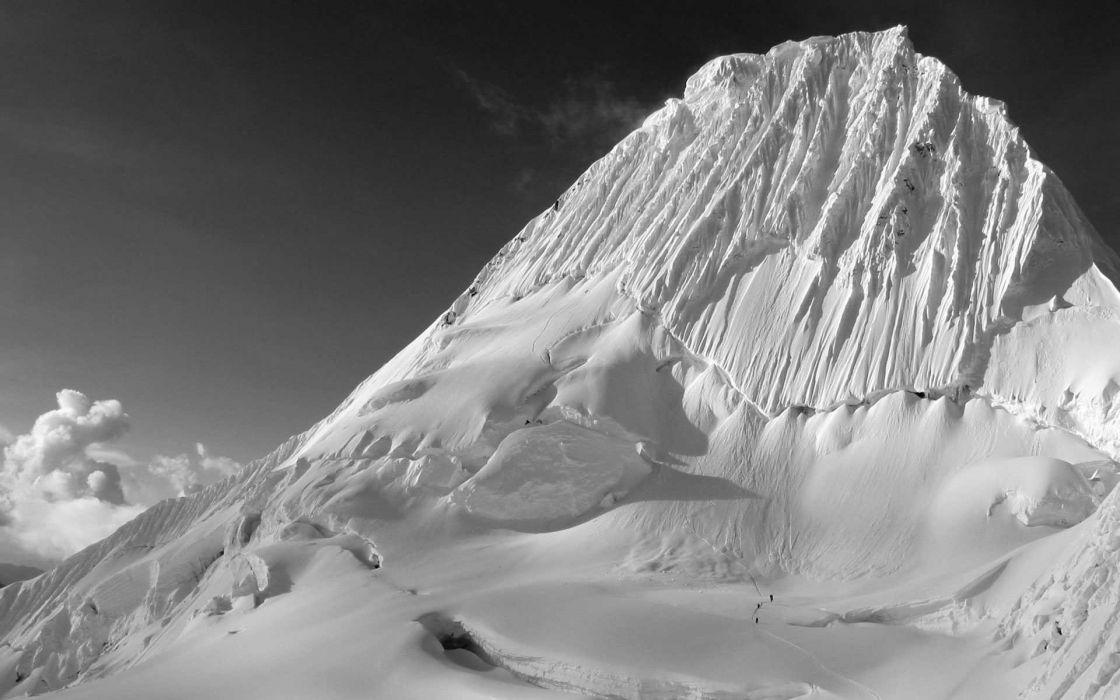 mountains snow monochrome snow landscapes greyscale wallpaper