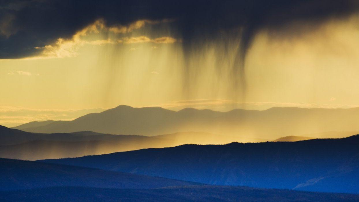 sunset clouds storm wallpaper