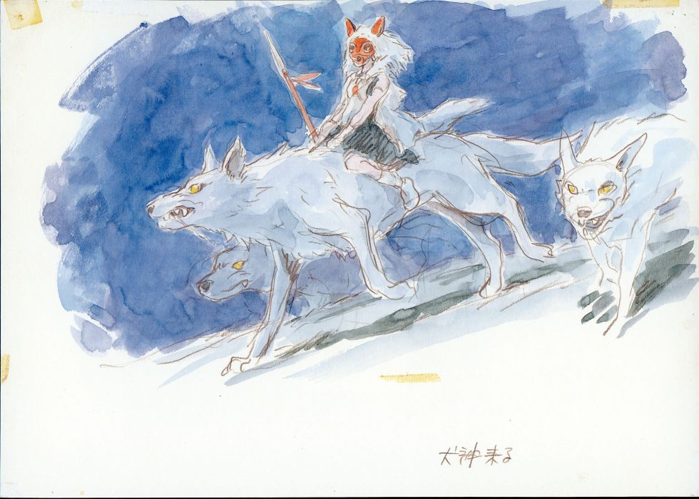 Princess Mononoke wolves San (Princess Mononoke) wallpaper