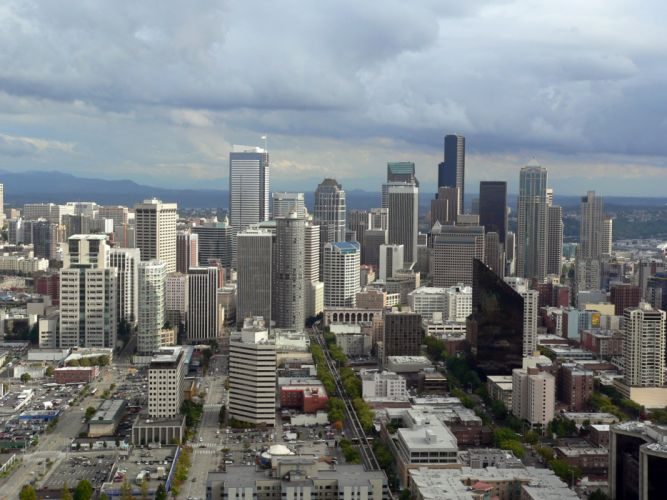 cityscapes Seattle wallpaper