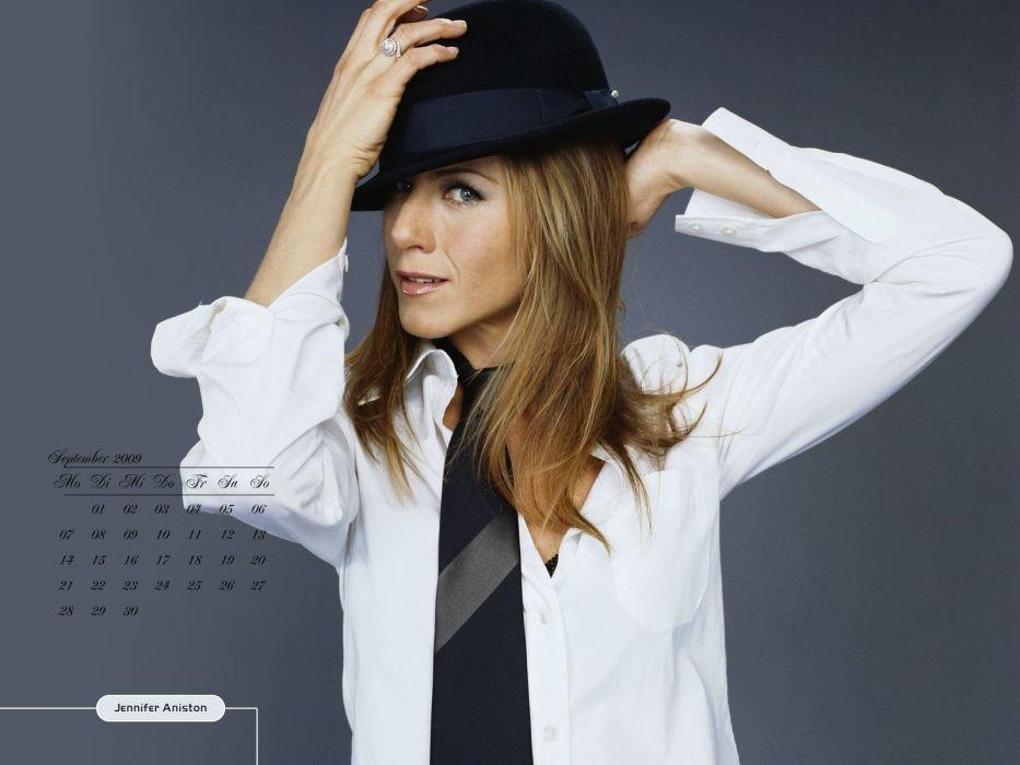 women Jennifer Aniston calendar wallpaper
