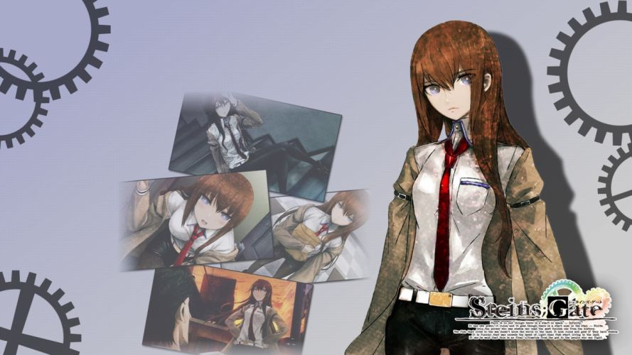 anime boys Steins;Gate Makise Kurisu Okabe Rintarou anime girls wallpaper