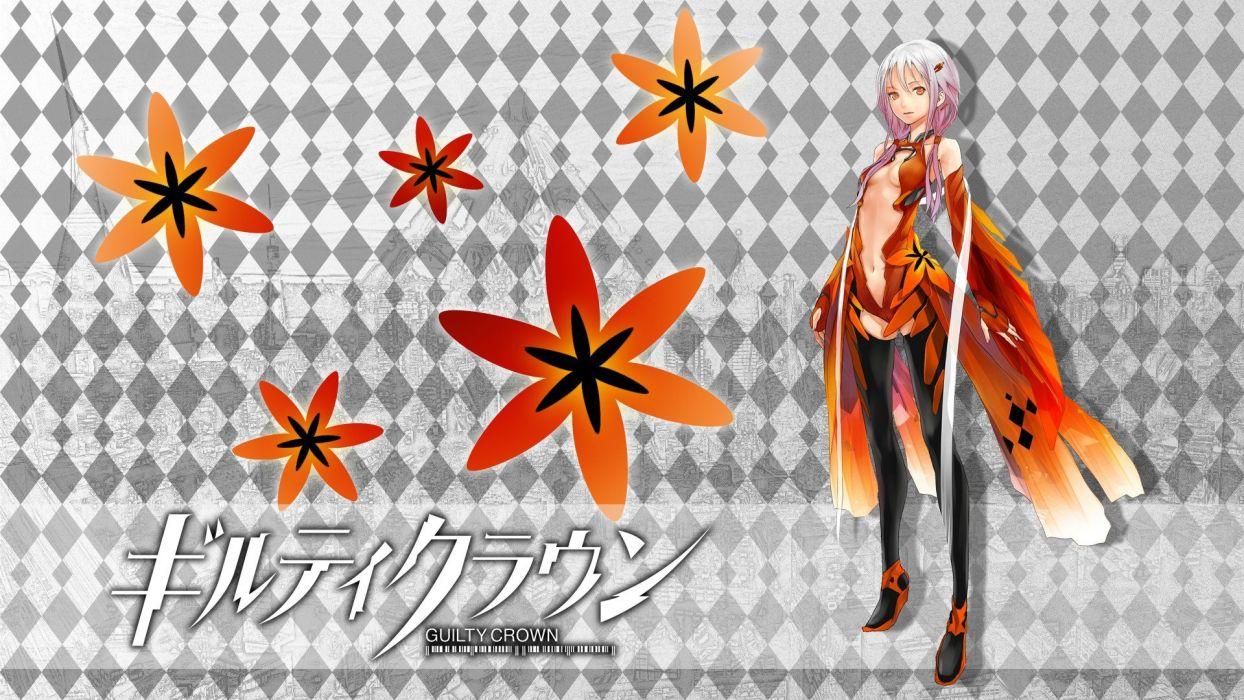 pink hair Redjuice Guilty Crown Yuzuriha Inori wallpaper