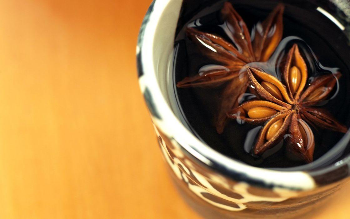 tea food sweets (candies) desks wallpaper