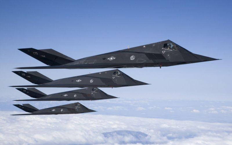 war military airplanes USA stealth bomber Lockheed F-117 Nighthawk wallpaper