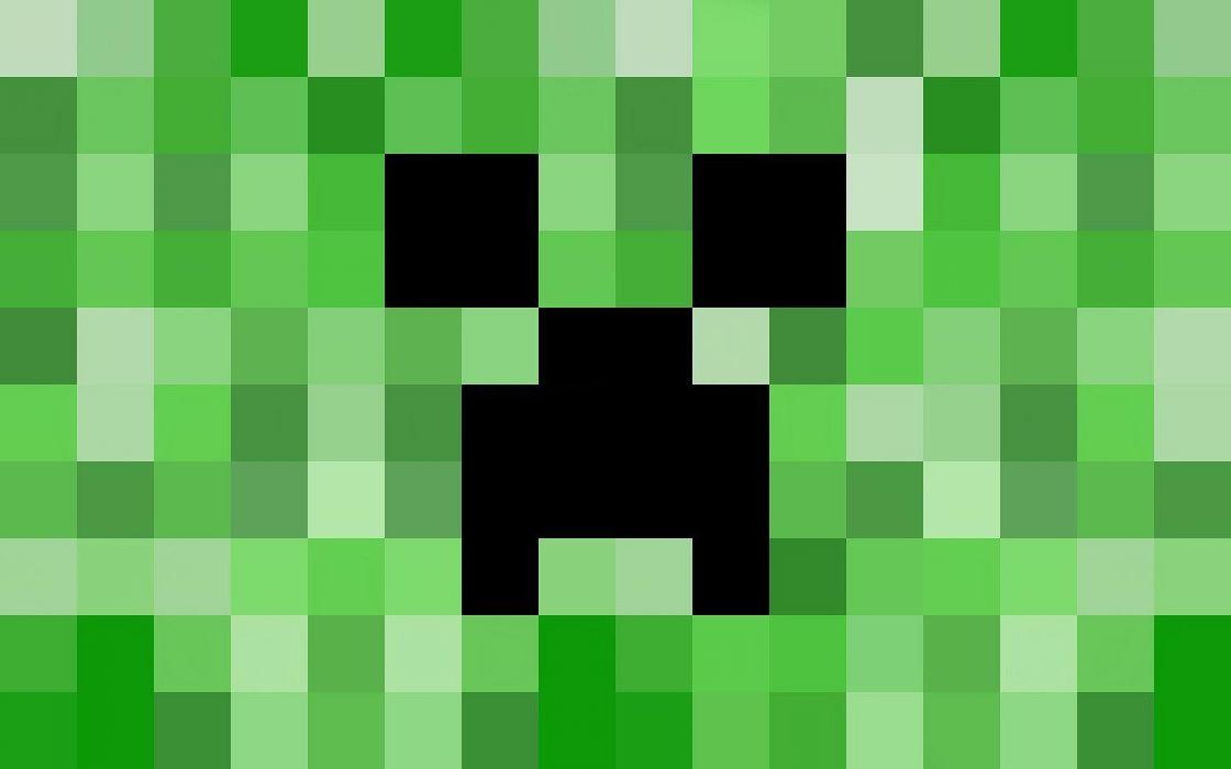 blocks creeper Minecraft wallpaper