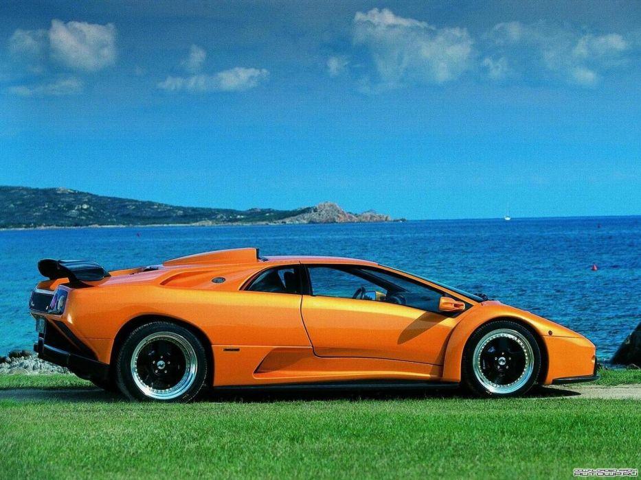 blue Lamborghini Lamborghini Diablo auto wallpaper