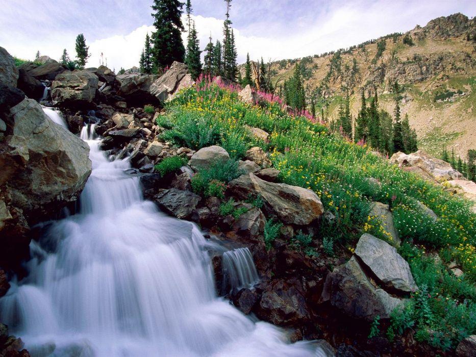 nature spring grand national waterfalls wallpaper